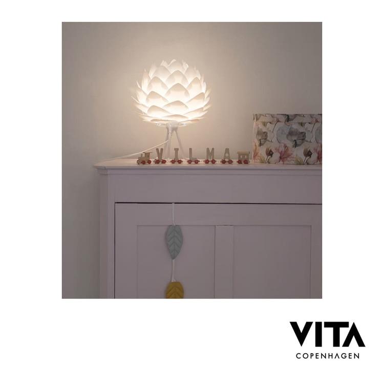 Lampskärm VITA Silvia Vit mini