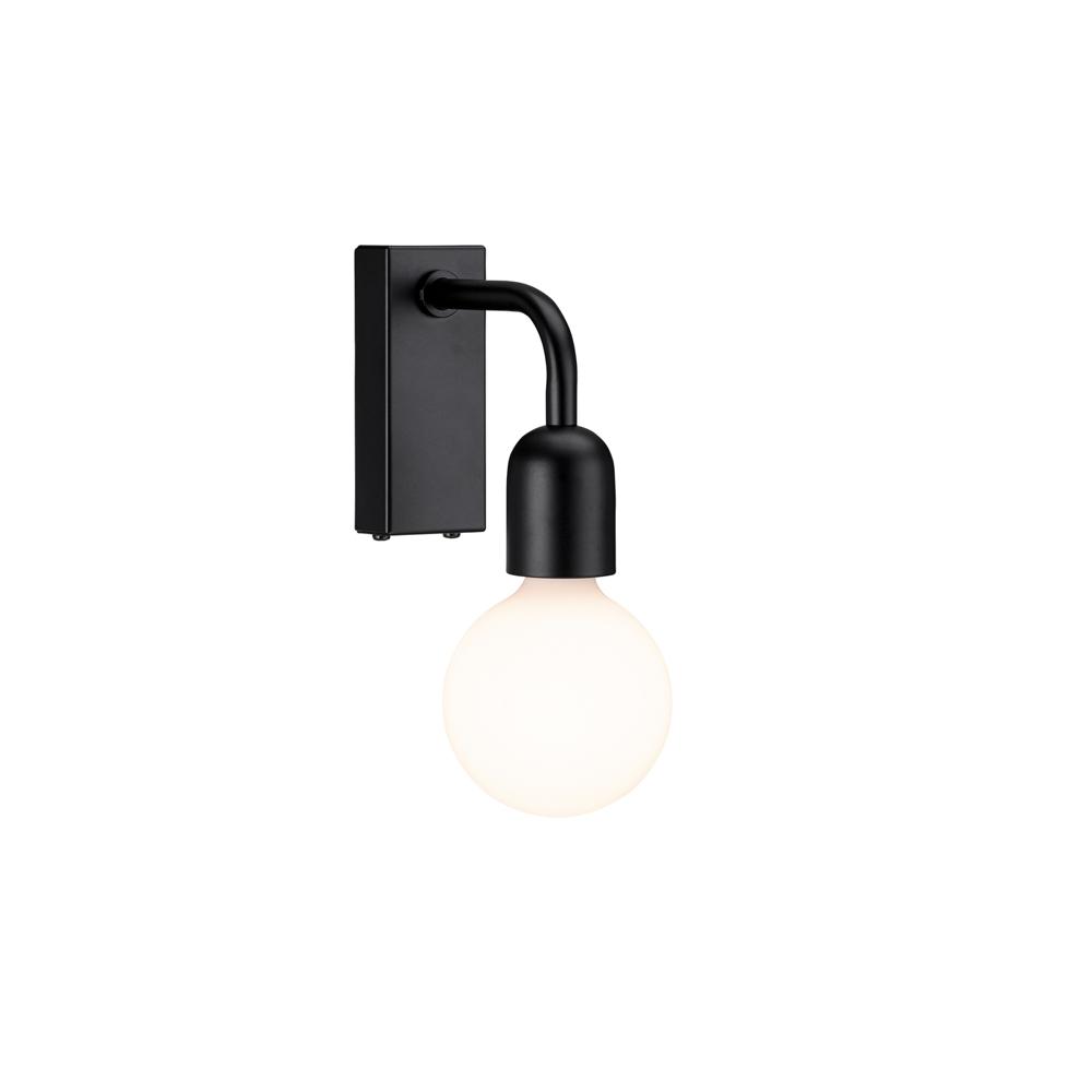 Regal vägglampa i svart snygg design   Designinteriör.se